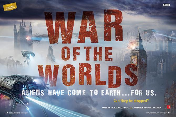 War Of The Worlds Reading Fluency Scholastic Scope Magazine