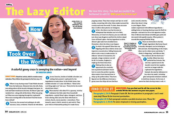 How Slime Took Over the World - Writing and Editing | Scholastic