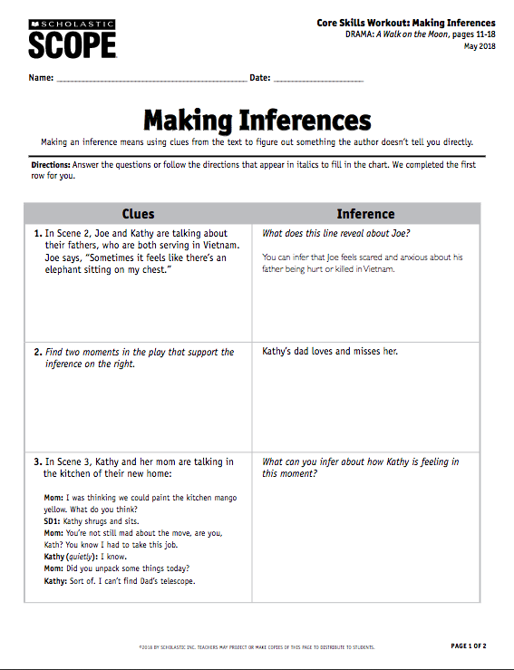Your Must-Have Inference Activity